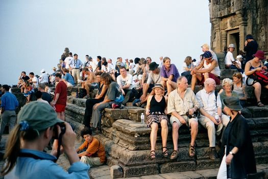 Cambodia (Angkor): Looking at Tourists picture 5