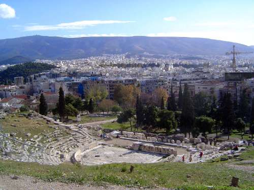 Greece: Theaters and the Temple of Olympian Zeus picture 2