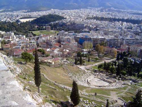 Greece: Theaters and the Temple of Olympian Zeus picture 1